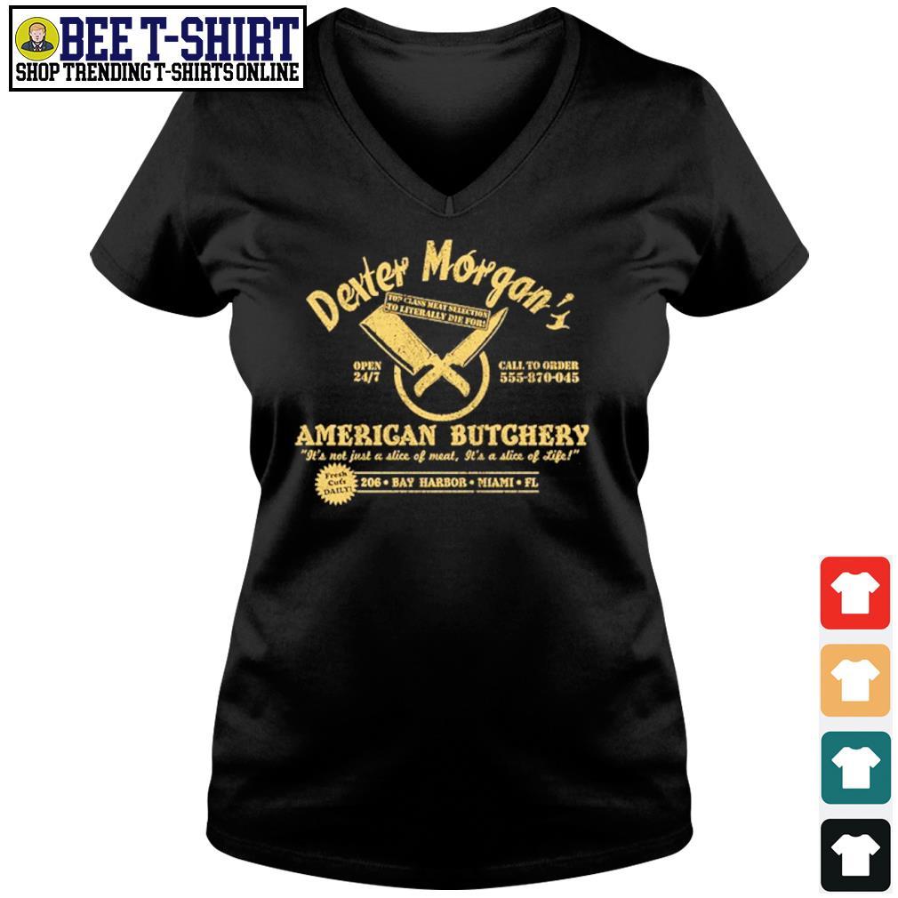 Dexter Morgan American Butchery Bay Harbor Miami s v-neck t-shirt