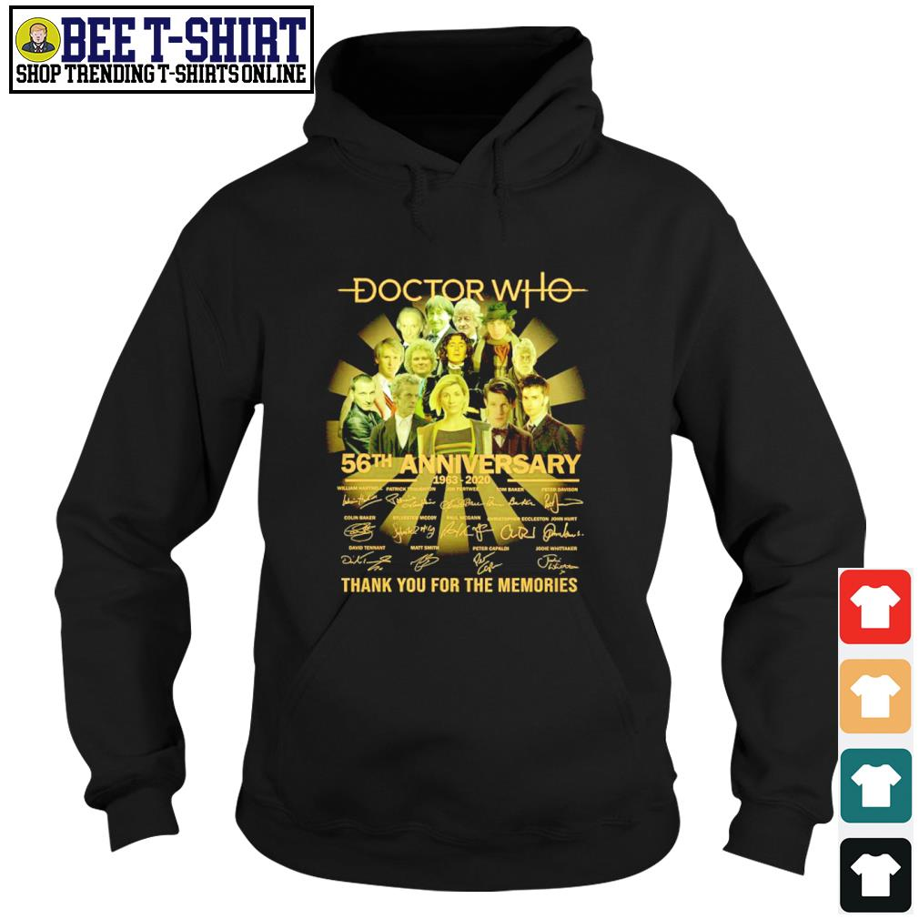 Doctor Who 56th anniversary thank you for the memories s hoodie