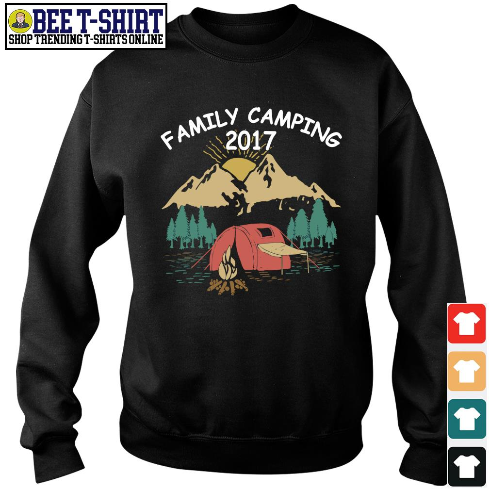 Family camping 2017 vintage s sweater