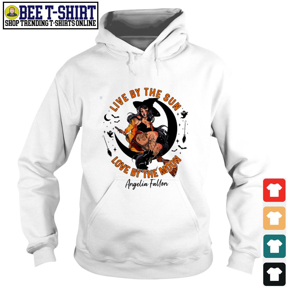 Halloween witch tattoo live by the sun love by the moon s hoodie