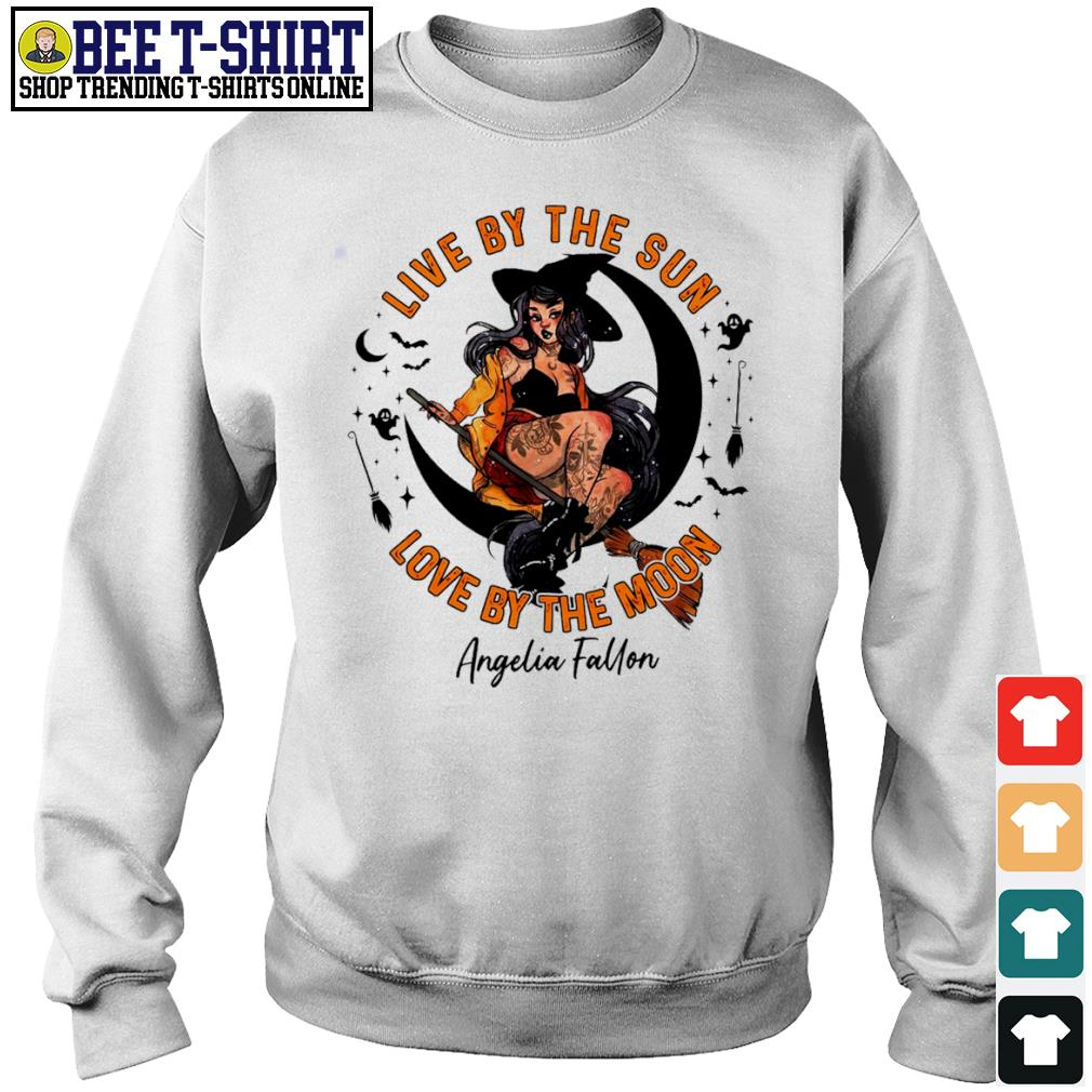Halloween witch tattoo live by the sun love by the moon s sweater