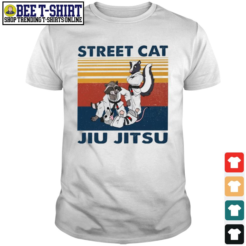 Racoon and opossum street cat jiu jitsu vintage shirt