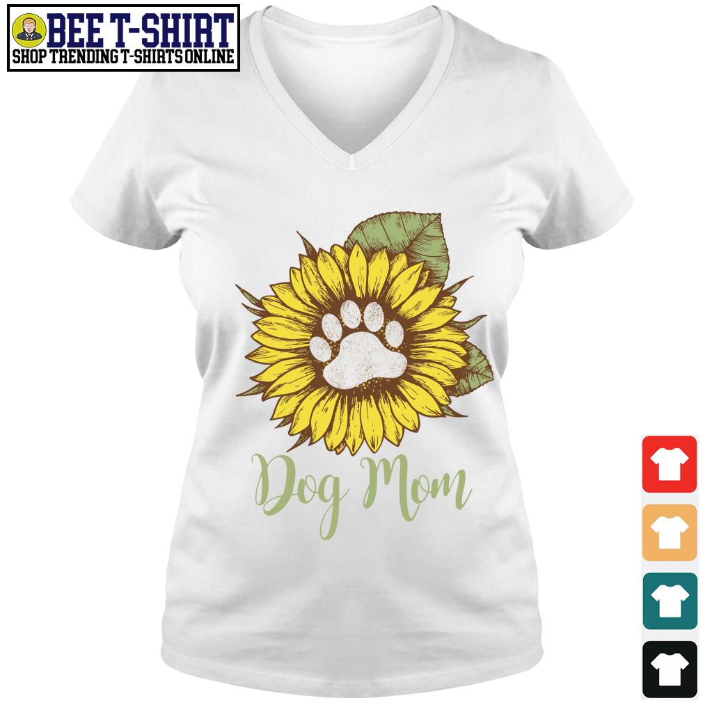 Sunflower dog mom s v-neck t-shirt