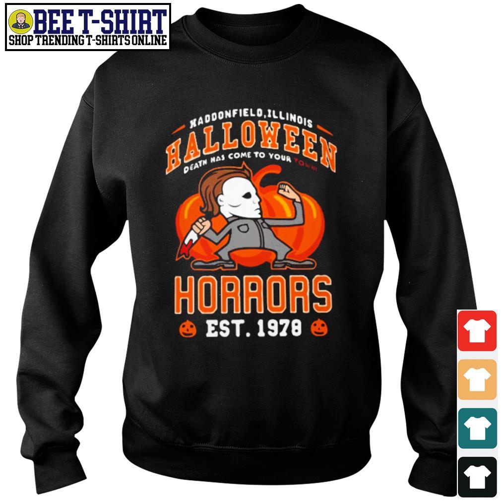 Haddonfield Illinois Halloween Michael Myers horrors est 1978 s sweater