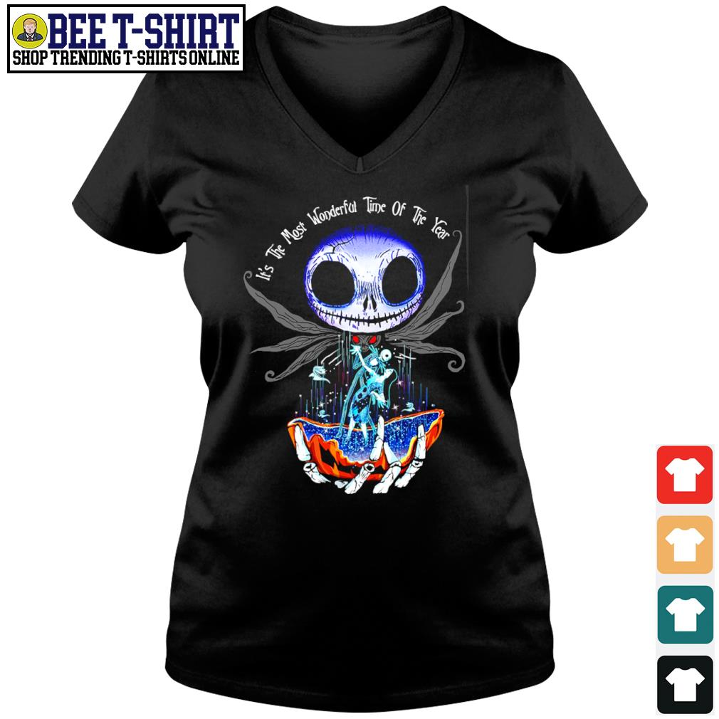 Jack Skellington and Sally it's the most wonderful time of the year s v-neck t-shirt