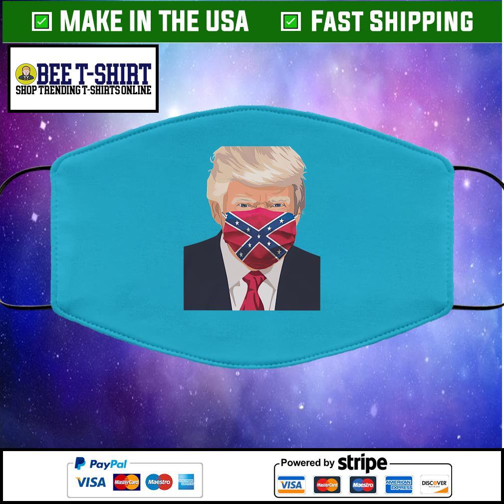 Donald Trump Florida Flag face mask blue