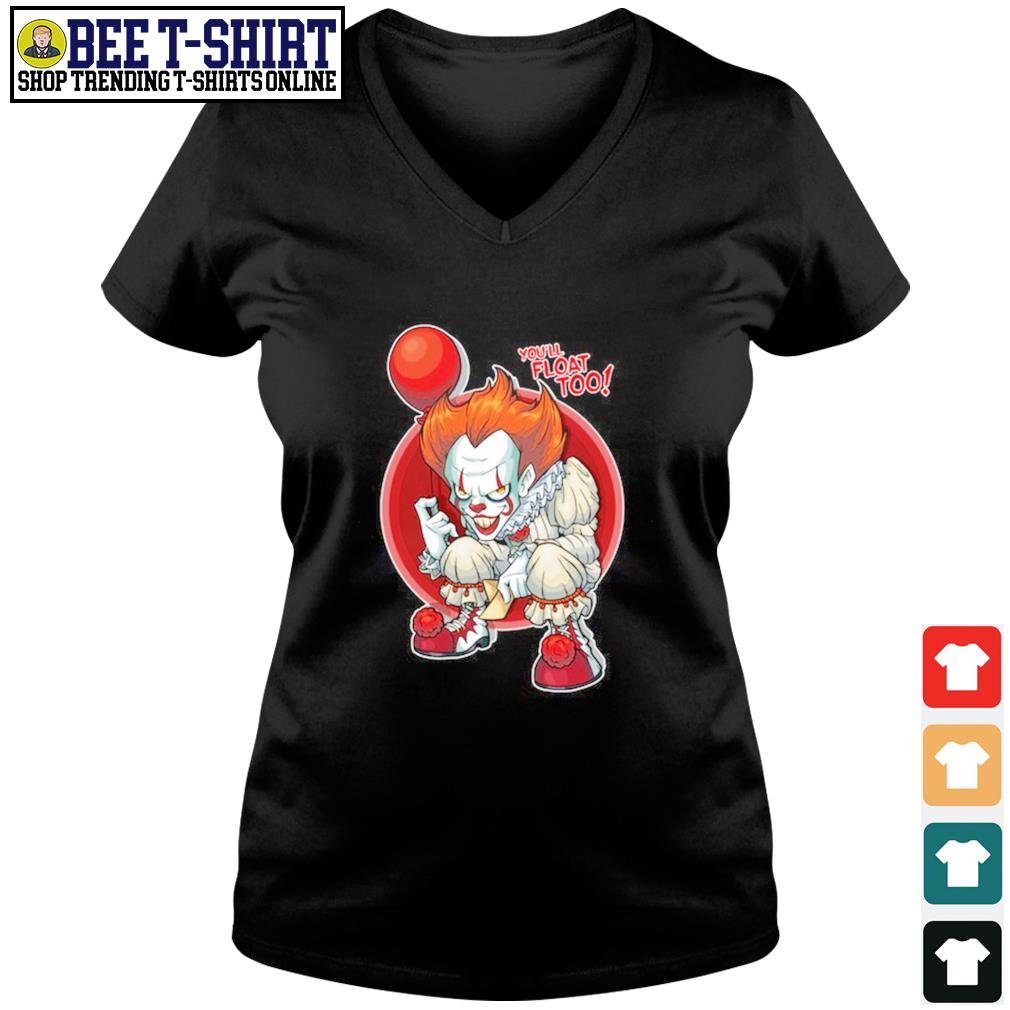 Pennywise you'll float too s v-neck t-shirt