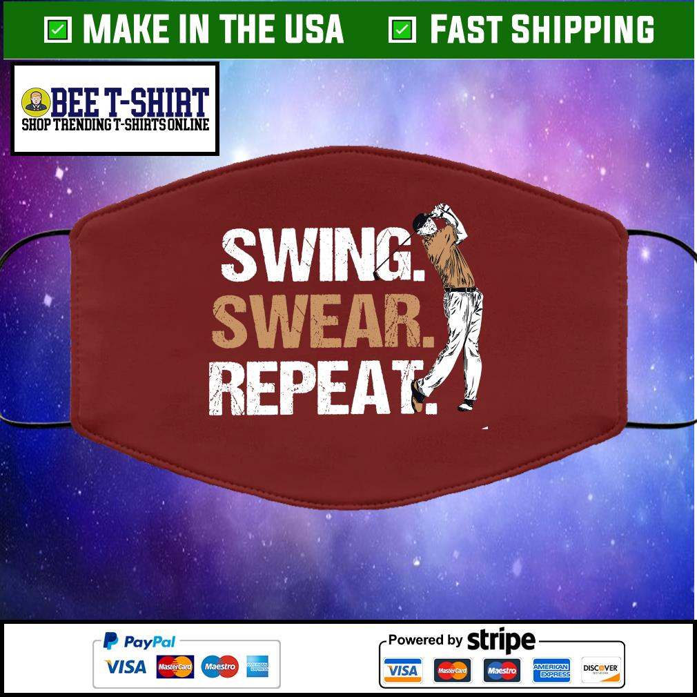 Swing swear repeat Cloth Face Mask Washable brown