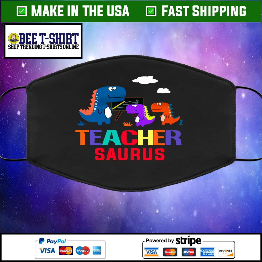 Teacher saurus face mask