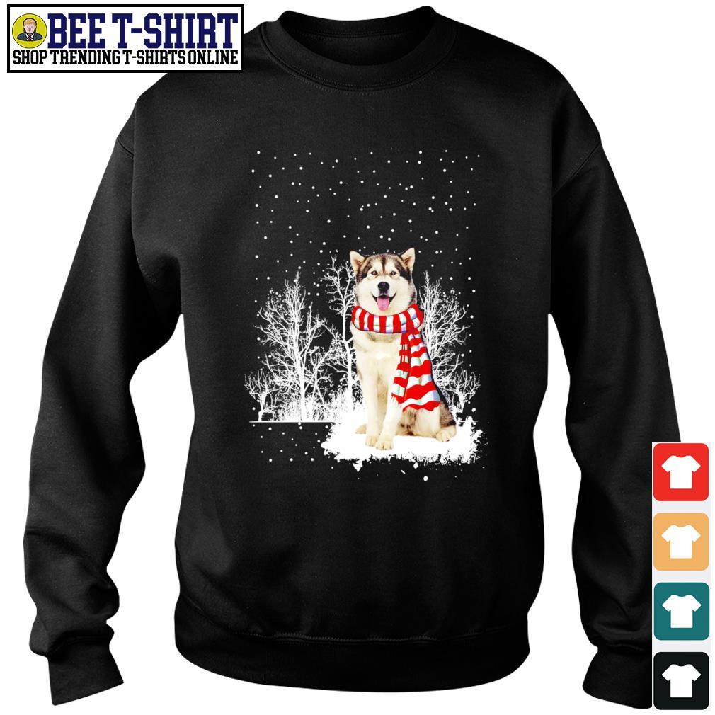 Snow Scarf Alaskan Malamute Merry Christmas s sweater