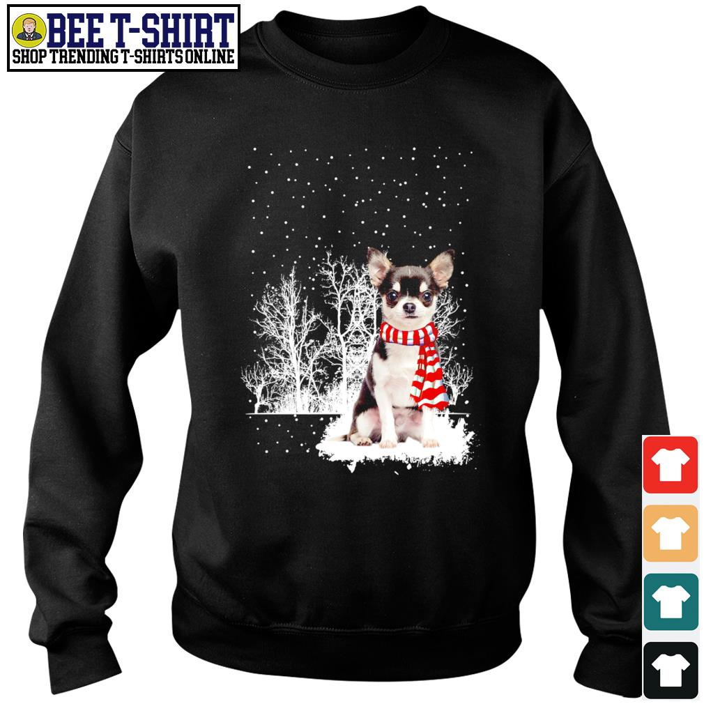 Snow Scarf Chihuahua Merry Christmas s sweater