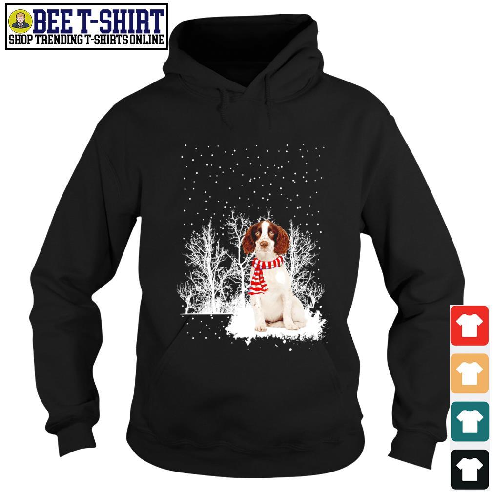 Snow Scarf English Springer Spaniel Merry Christmas s hoodie