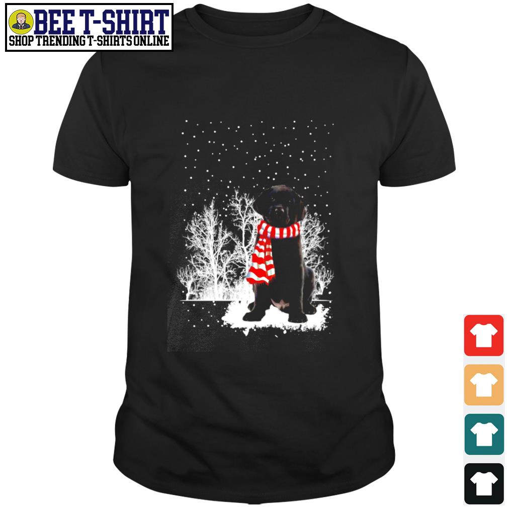Snow Scarf Labrador Retriever Merry Christmas shirt