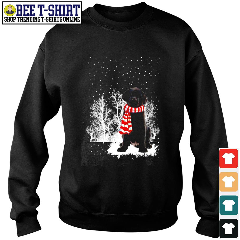 Snow Scarf Labrador Retriever Merry Christmas s sweater