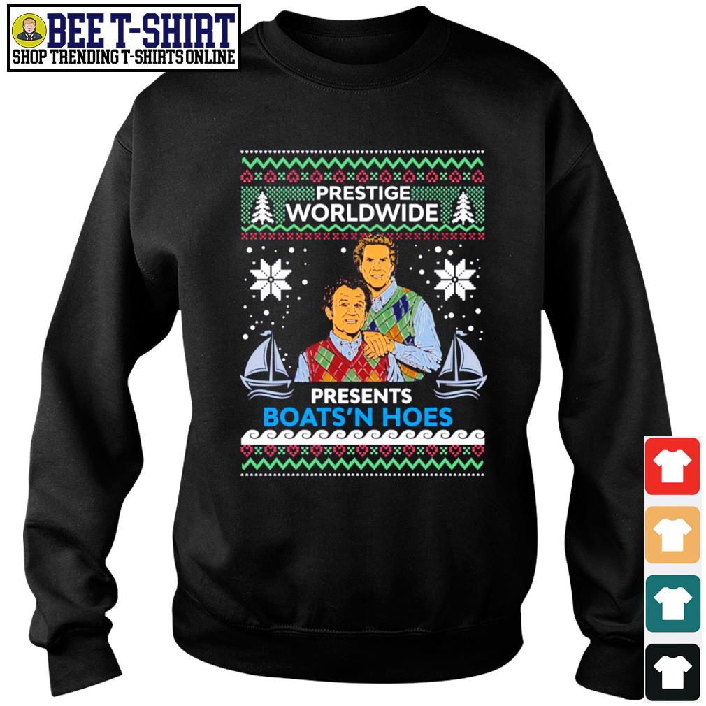 Step Brothers prestige Worldwide presents Boats'n hoes ugly Christmas s sweater