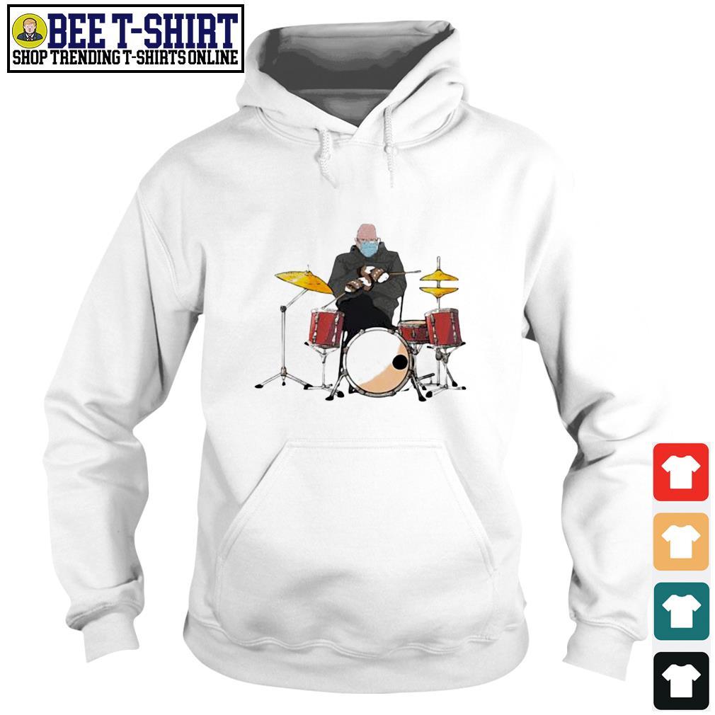 Bernie Sanders drums mittens sitting Inauguration Meme 2021 s hoodie