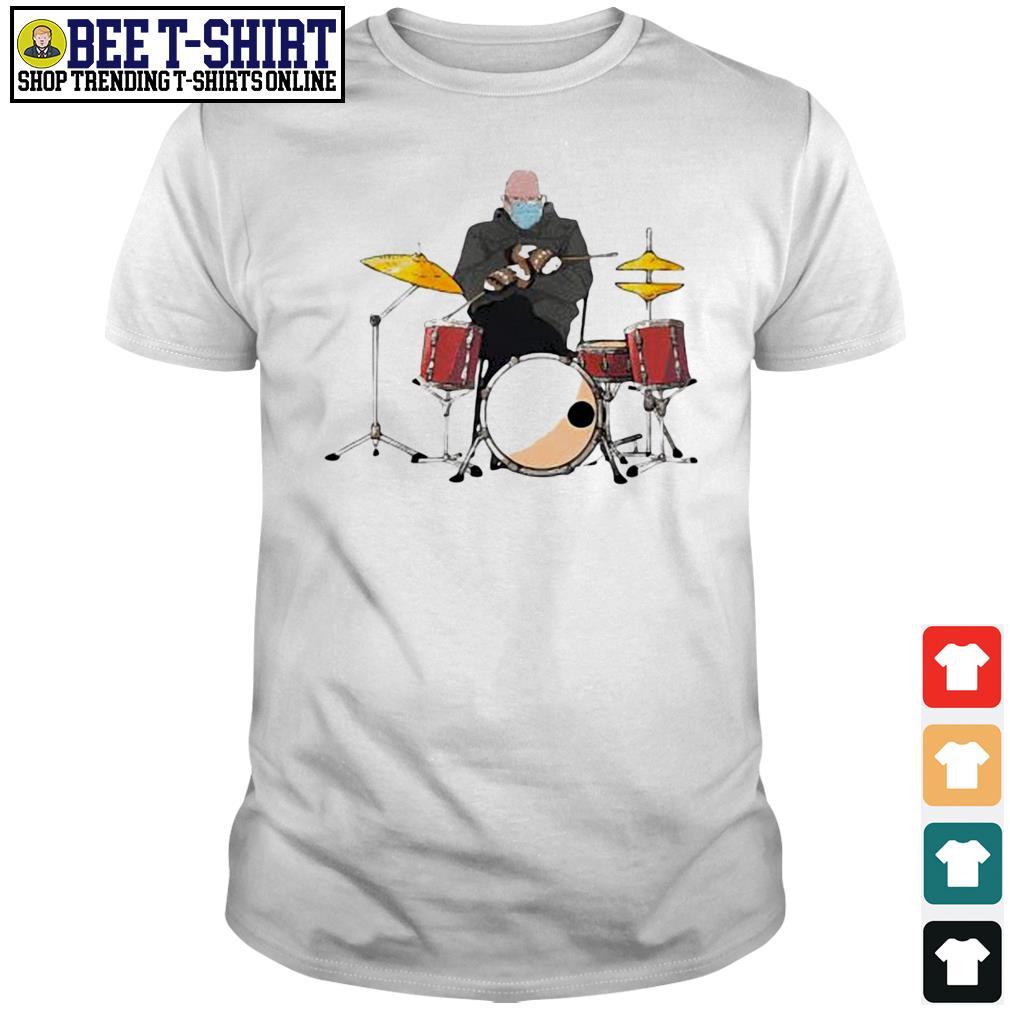 Bernie Sanders drums mittens sitting Inauguration Meme 2021 shirt