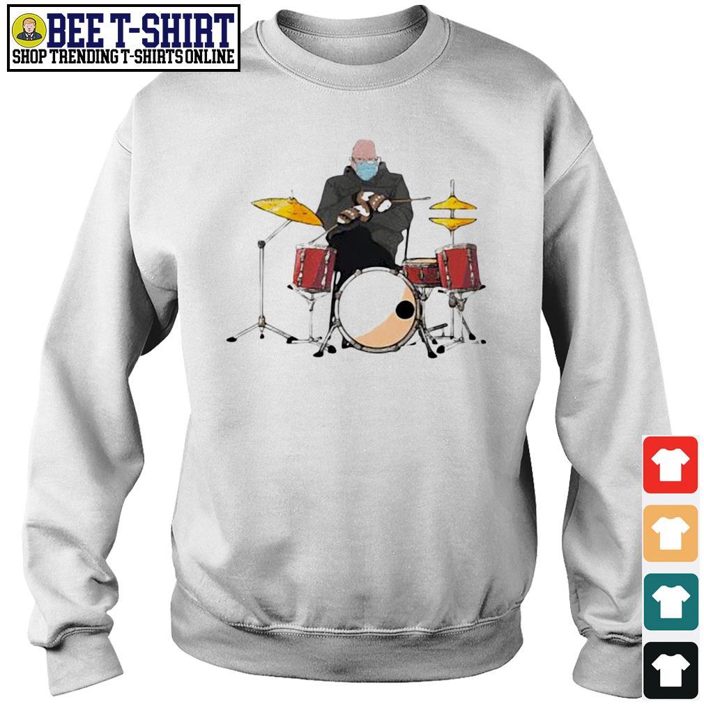 Bernie Sanders drums mittens sitting Inauguration Meme 2021 s sweater