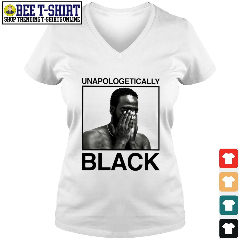 Black man unapologetically black s v-neck t-shirt