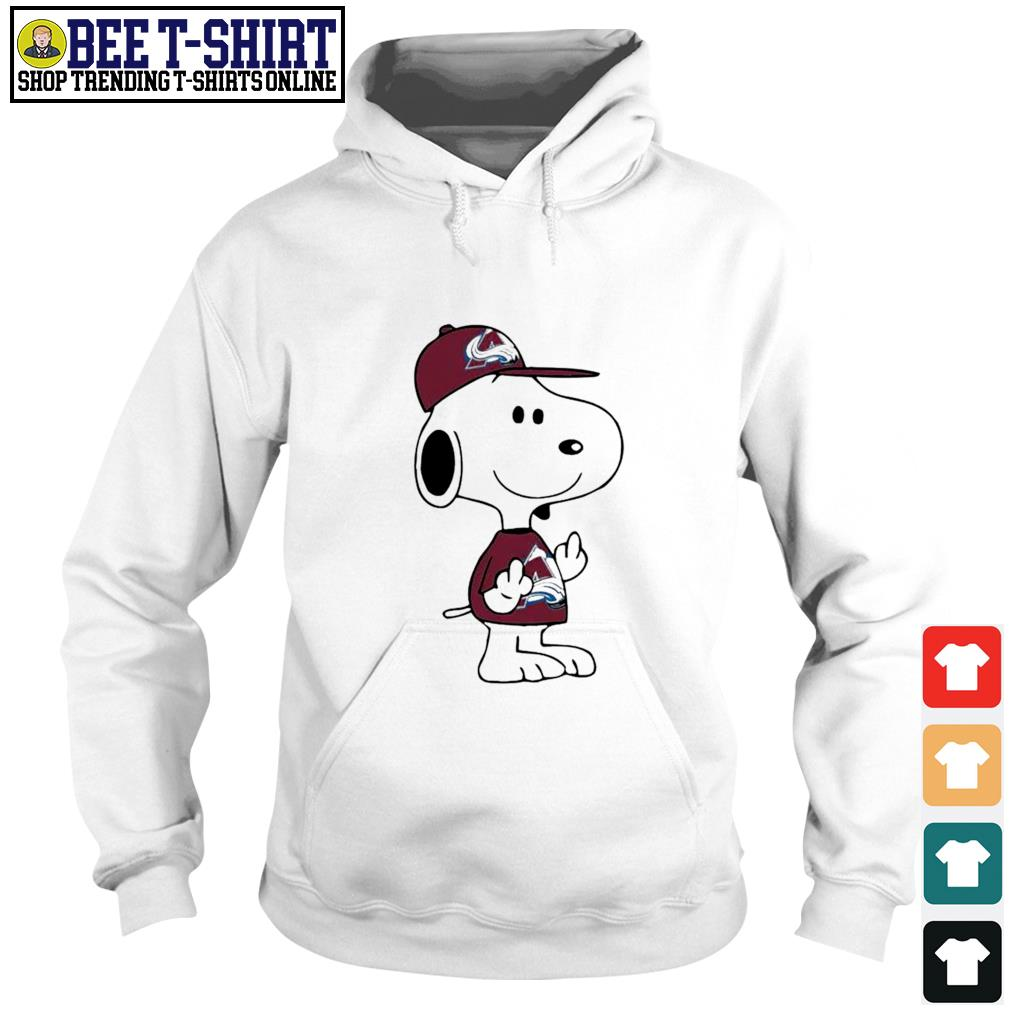 Snoopy Colorado Avalanche NHL double middle fingers fuck you s hoodie