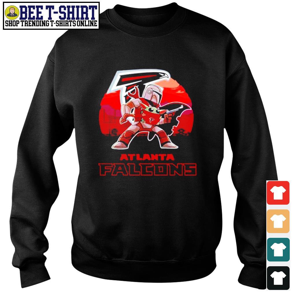 The Mandalorian Star War Baby Yoda with Atlanta Falcons 2021 s sweater