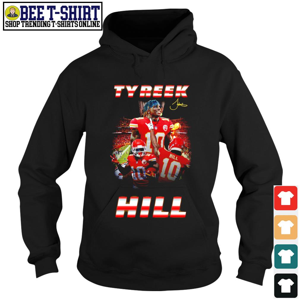 10 Tyreek Hill signature Kansas City Chiefs s hoodie
